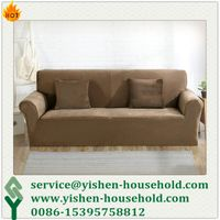 Yishen-Household cheap spandex knitted grey sofa cover spandex slipcover sofa cover hot on Amazon