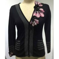 Fashion woman's flower decro cardigan