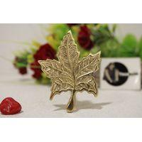 Brass Knob In Leaf Shape