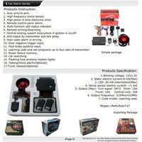 Mature Factory Supply One Way Car Security Alarm System 12V Car Alarm