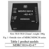 MDSC/MDRC38 Series Digital to Synchro/ Resolver Converters