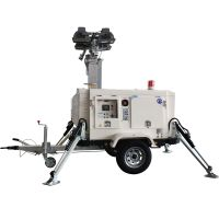 Hydraulic 9.2m mast mobile light tower for sale