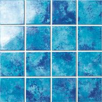 Mixed blue ceramic mosaic for swimming pool