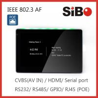 SIBO 7 Inch Inwall Flush Automation Android Tablet Customized POE USB OTG LED Light