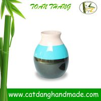 Unique flower pot, bamboo lacquer vase(Skype: jendamy, Mob: +84 914542499)