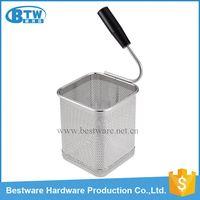 Single Handle Stainless Steel Mesh Pasta Cooker Basket
