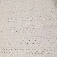 100 cotton fabric white embroidered lace thumbnail image
