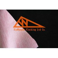 PVC Fabric with Flock Design, Flocking materials for shoes/sofa, XVC50 M