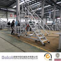 Wholesale Mobile Aluminum Work Platform Ladder