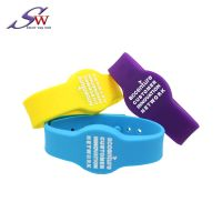 RFID Silicone Wristband/Bracelet with Chip Customised LOGO QR Code thumbnail image