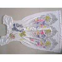 seamless printed one-piece dress
