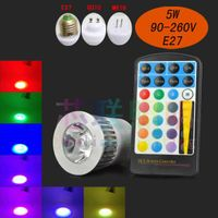 5w Led rgb bulbs IR controller, IR led rgb spotlight, led rgb spot lights with smart control