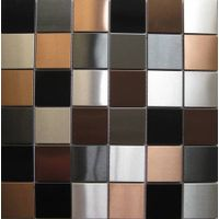 4848MM silver+black+copper brushed stainless steel mosaic thumbnail image