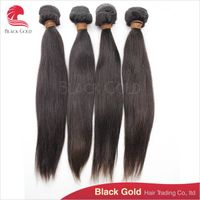 Same Lengths Brazilian Straight Virgin Hair Soft and Silky Large Stock From 8 to 34 inches Tangle Fr