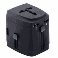World Adapter with 4 USB Chargers