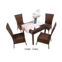 Wicker Furniture Set, Includes Table and Chair, Available in Various Colors