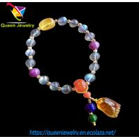 moonglow jewelry Handmade Blessing Bracelet with red Agate Moonstone Stones The Perfect Caring Gift