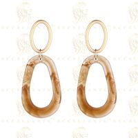 New Retro Exaggerated Oval Geometry Earrings Korean Style Dumb Gold S925 Silver Pin Earrings thumbnail image