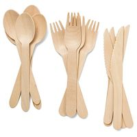 Disposable bulk wooden cutlery from China