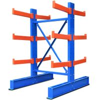 Warehouse steel storage double side cantilever rack