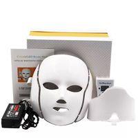 7 color PDT Skin Rejuvenatio LED Photon Facial Mask, Face Spa Neck Care machine Treatment Beauty Ant