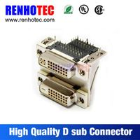 Telecom Solder VGA 90 Degree Negative Positive Pole Dual in Line Ports Pin D-Sub Connector