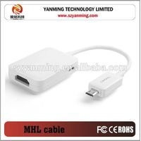micro usb to hdmi MHL cable for samsung