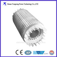 Cast copper aluminium motor rotor core