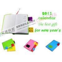 Wholesale 2013 calendar diary with blocks design in A6 size paper