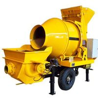 High Quality Strong Steel Frame Mobile Hydraulic Trailer Concrete Pump with Drum Mixer