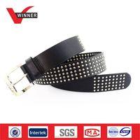 hot sale cow hide leather metal rivets belts thumbnail image
