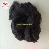 Polyester staple fiber (psf)/recycled polyester fiber/black psf
