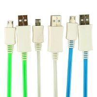 Pzcd PZ-27 Micro USB Male to USB Male Data Sync and Charge Cable with Visible Shining LED for Androi thumbnail image