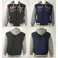 Overstock men's quilted jacket with fleece sleeve manufacture&supplier thumbnail image