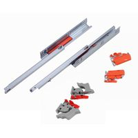single extwnsion undermount drawer slides with push open with clips