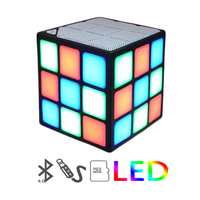 Mini Magic Cube Colorful Wireless Portable Bluetooth Speaker LED Flash Light with TF Card Handsfree thumbnail image