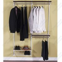 Classic wire closet shelves system for bedroom wardrobes thumbnail image