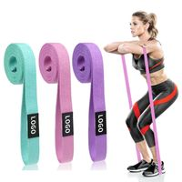 long fabric resistance bands 2080mm for home body workout