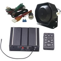 Police Siren Kit with Speaker Wireless Remote Controller and PA system for broadcasting thumbnail image