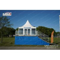 wedding tent with glass wall