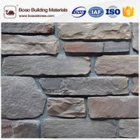 Artificial ledge stone dry stacked stone veneer stone wall panel