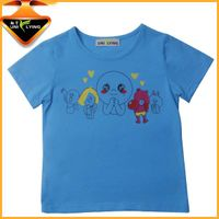 Wholesale 100% Cotton Short Sleeve Children T-shirt