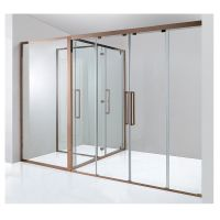 Customized 3 spaces big size rectangle shape rose gold shower room