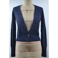 12STC0515 sequin sprinkled wide v-neck cardigan sweater