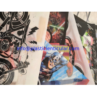 Custom printing soft TPU 3d lenticular flip fabrics for bag/suitcases/t-shirt/Luggage Cases