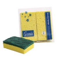 Kitchen Cleaning Cellulose Sponge, Nylon Scouring Pads with Cellulose sponge thumbnail image
