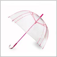 Clear Bubble Umbrella With Color Frame For Lady