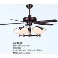 Iron blade ceiling fan light
