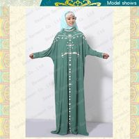 Latest fancy design hot drilled muslim abaya wholesale MF18180 thumbnail image