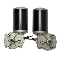 Brush DC Gear Motor 12V 24V Electric Gearbox Motor High Torque Engine for Automat thumbnail image